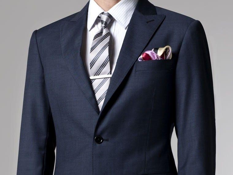 1e95b903f53ac Essential Blue Sharkskin Suit | 8 | Custom made suits, Suits, Bride suit