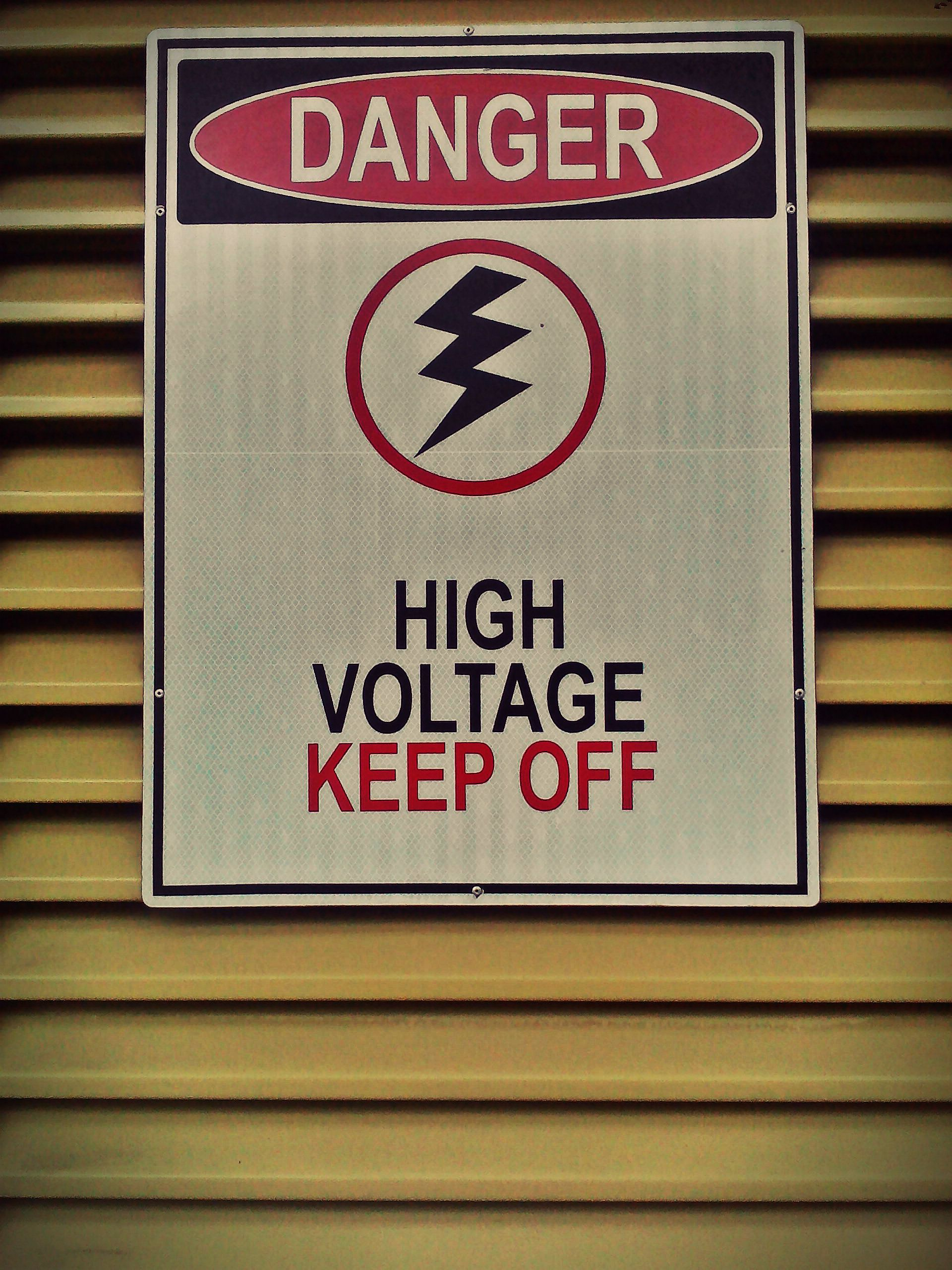 danger, high voltage, keep off, lines, photography