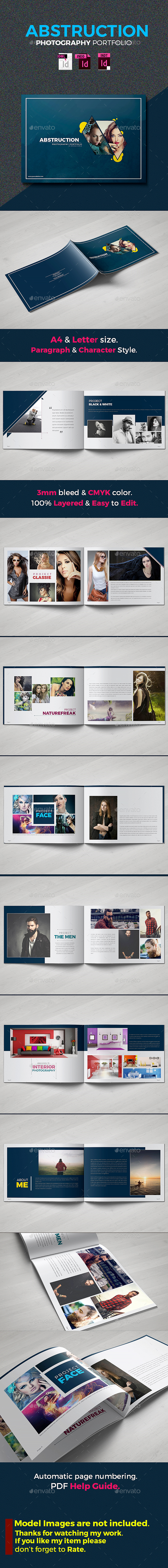 Abstruction - Photography Portfolio Brochure Template InDesign INDD ...