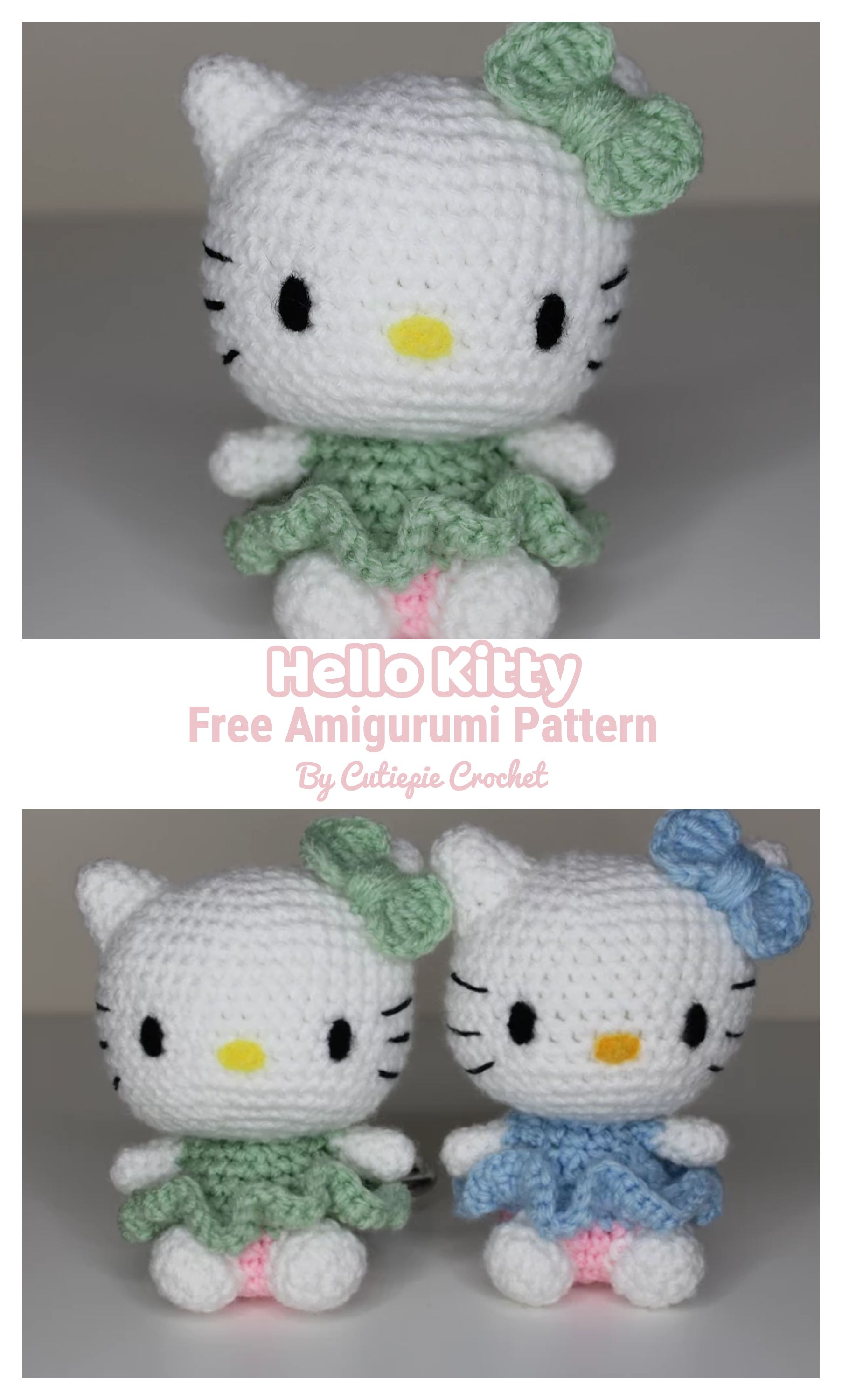 Hello Kitty Free Amigurumi Pattern in 2020 | Hello kitty