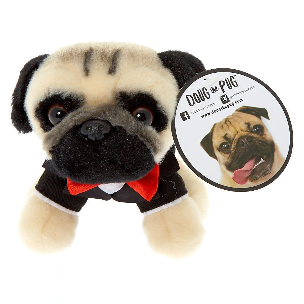 Doug The Pug C Small New Years Eve Dougable Plush Toy Doug The
