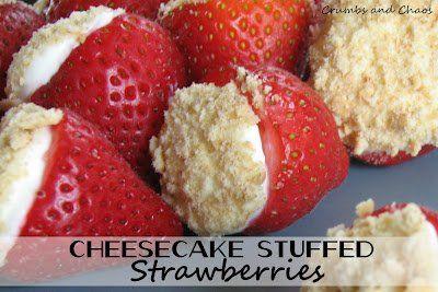 Cheesecake Stuffed Strawberries, I am working on figuring calories, fat etc.