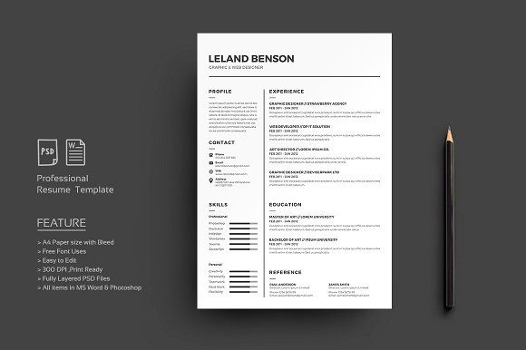 What Font To Use On Resume Resumecvdeviserpark On Creativemarket  Others  Pinterest .