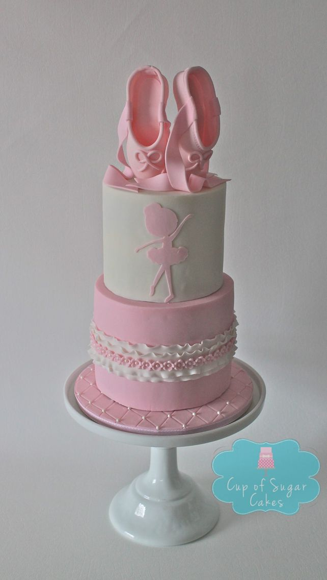 Silhouette Ballet Birthday Cake From Cup Of Sugar Cakes Using - Ballet birthday cake
