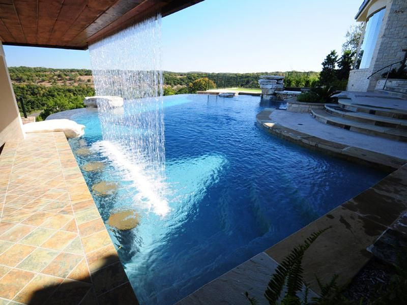 Infinity Pool With Swim Up Bar 4 Pool Water Features Inground Pools Pool