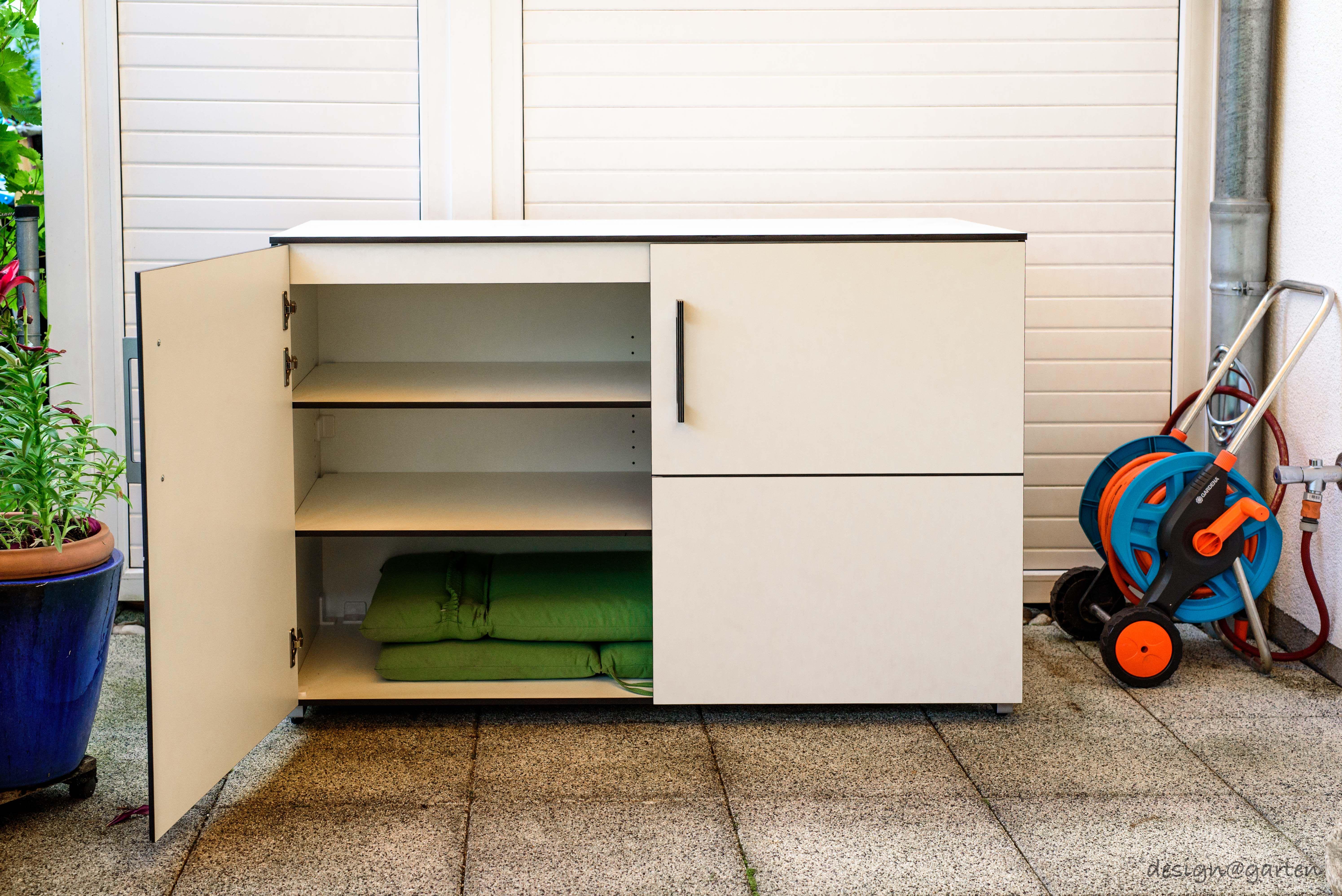 gartenschrank terrassenschrank win by design garten m nchen wetterfest regensicher uv. Black Bedroom Furniture Sets. Home Design Ideas