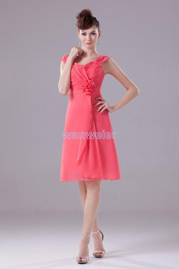e96d84f98540 Mini Chiffon Sheath Sweetheart Bridesmaid Dress With Shirring And  Sash(ZJ5810)