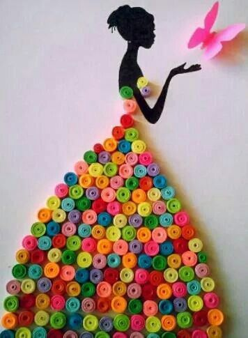 Robe Diy Quilling Crafts Quilling Designs Quilling Craft