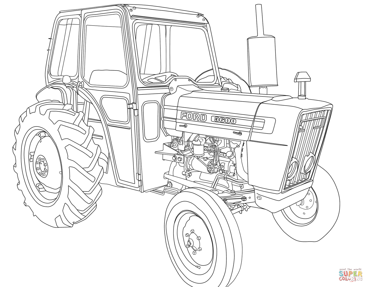 Tractor Ford 3600 Super Coloring Cars Coloring Pages Tractor Coloring Pages Truck Coloring Pages