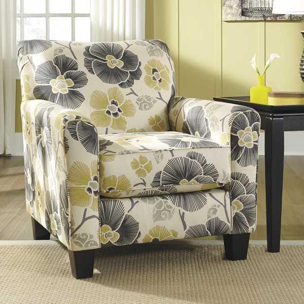 Safia Floral Accent Chair Nn 953ac Furniture Fabric Accent