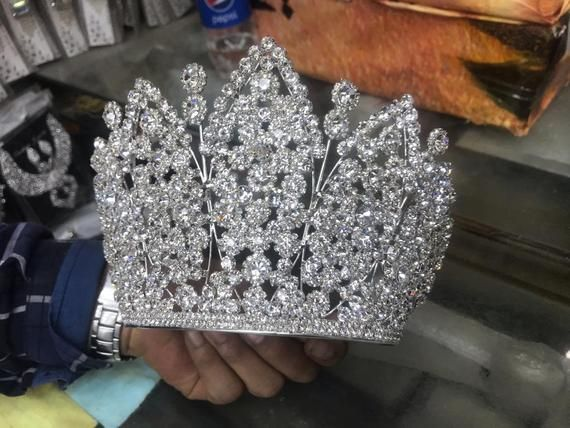 Bridal Tiara,Silver Tiara,Crystal Bridal Crown,Wedding Tiara,Wedding Hair Accessory,Wedding Headpiece,Bridal Hairpiece,Swarovski Crystals T