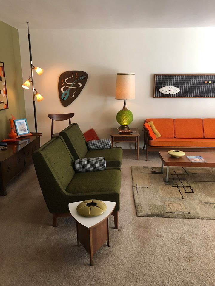 Best Pin By Hollyn On Mcm Home Mid Century Modern Living Room 400 x 300