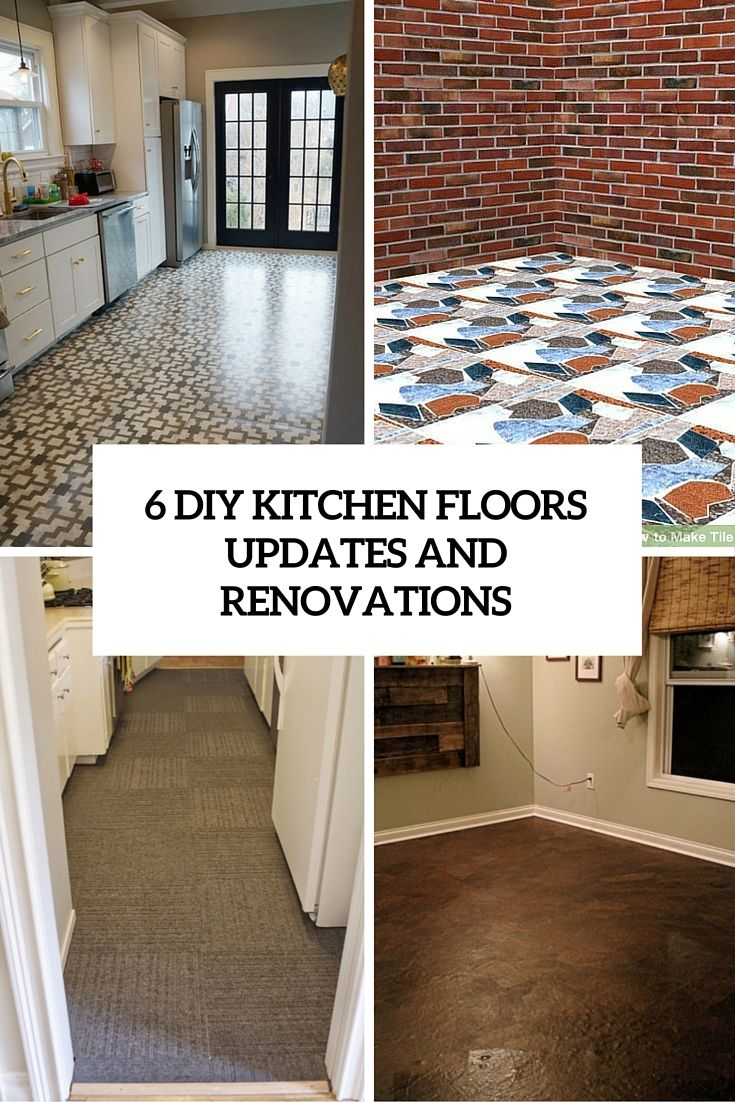 9 DIY Kitchen Floors Updates And Renovations To Try   Shelterness ...