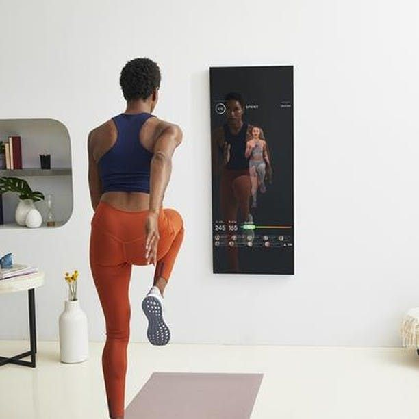 Have Space to Hang a Mirror? Then You Have Room for This New Home Gym System #purewow #health #tech...