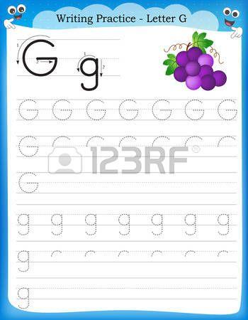 Pr ctica de escritura la letra G hoja de trabajo infantil para ...