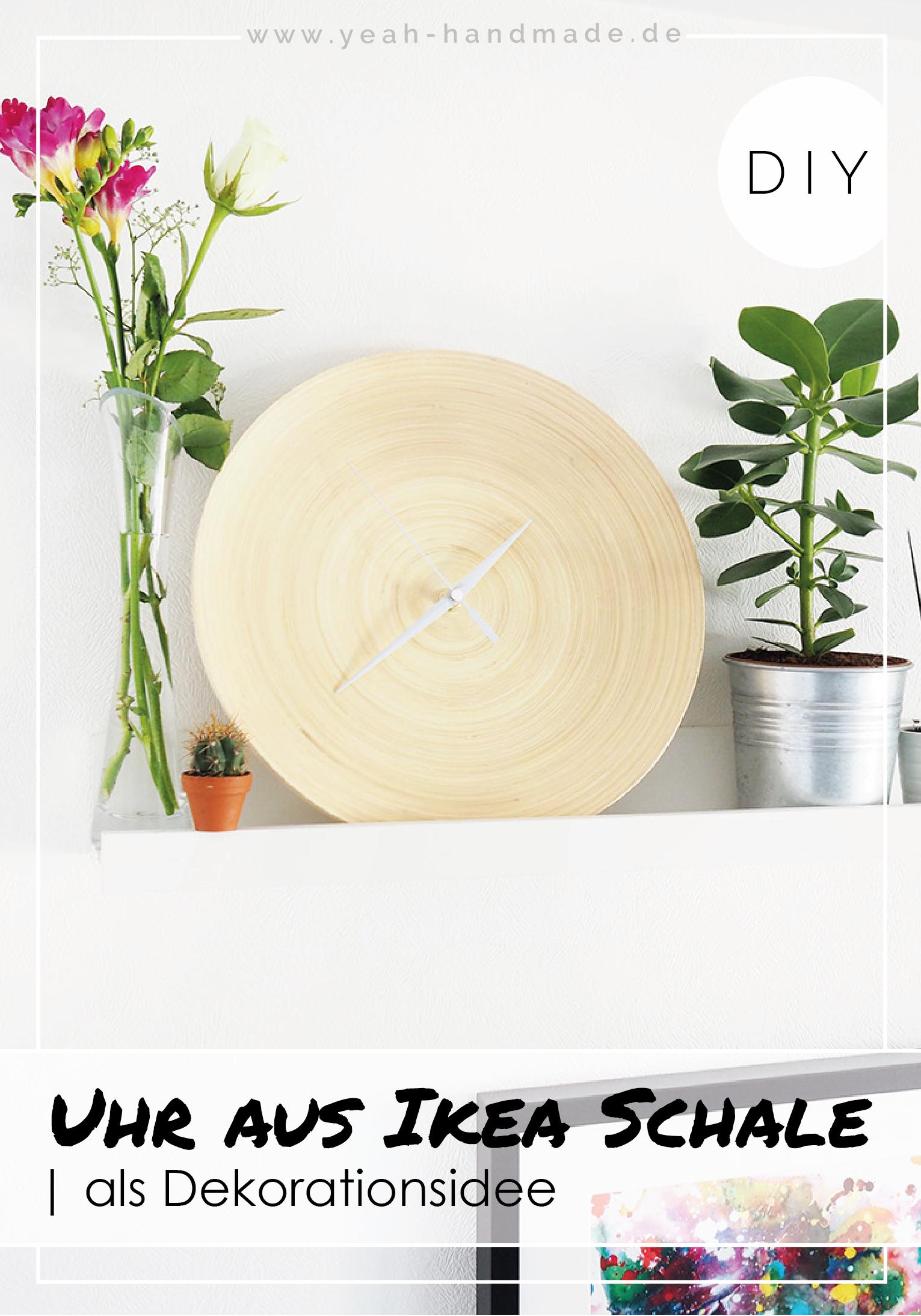Diy Uhr Aus Der Ikea Bambus Schale Hultet Interior Dekoration