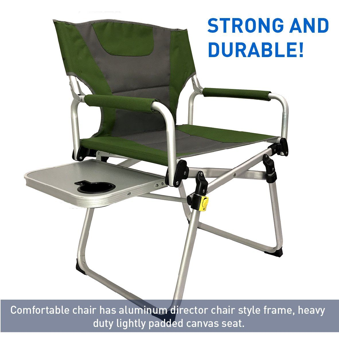 Folding Camp Chair With Side Table Directors Chair â Camping Chair â Folding Sports Chair With