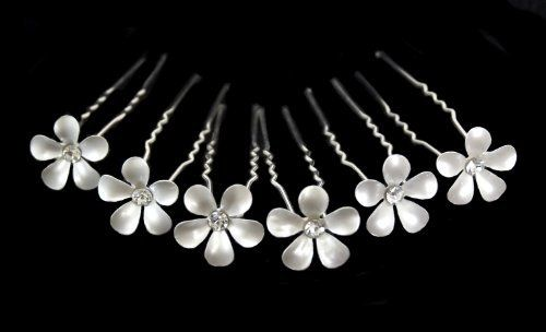 $19.95 -- Pearlescent Flower Bridal Wedding Hair Pin with Crystal Center (Pack of 6) CB Accessories,http://www.amazon.com/dp/B00C153H7A/ref=cm_sw_r_pi_dp_IALIrbD95A344982
