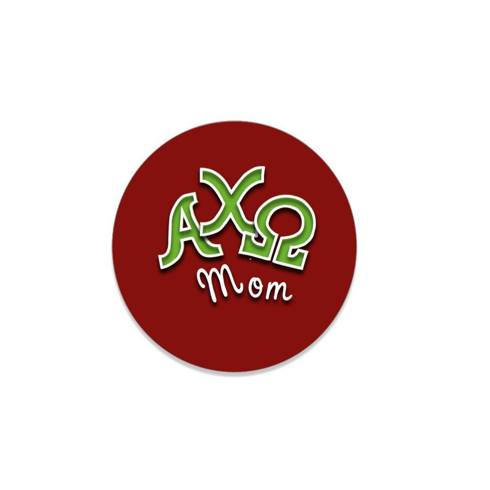 Alpha Chi Omega Button . Parents . Mom . 2.25""