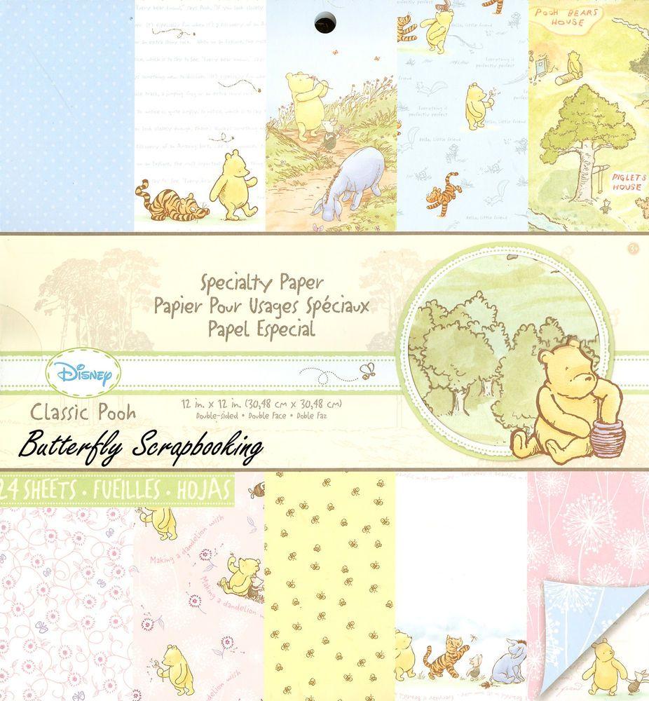 DISNEY Classic Winnie The Pooh 12x12 Scrapbooking Paper Pad 24 Sh EK ...