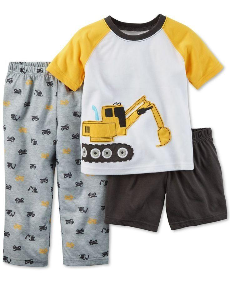 Pajama Set NWT CARTER/'S Boys 12 Construction 3-Pc