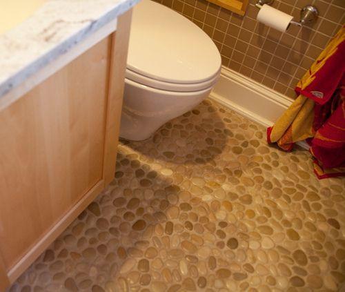 River Rock Bathroom Floors Google Search For The Home Bathroom