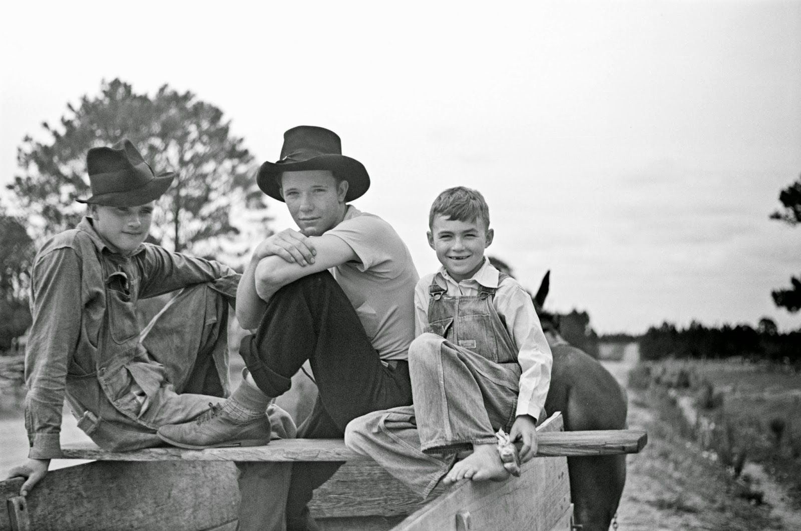 Farm boys at Irwinville Farms, Georgia, May 1938