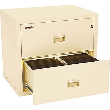 Charmant FireKing Compact Turtle Lateral File Cabinet, Letter/Legal, 2 Drawer,  Parchment