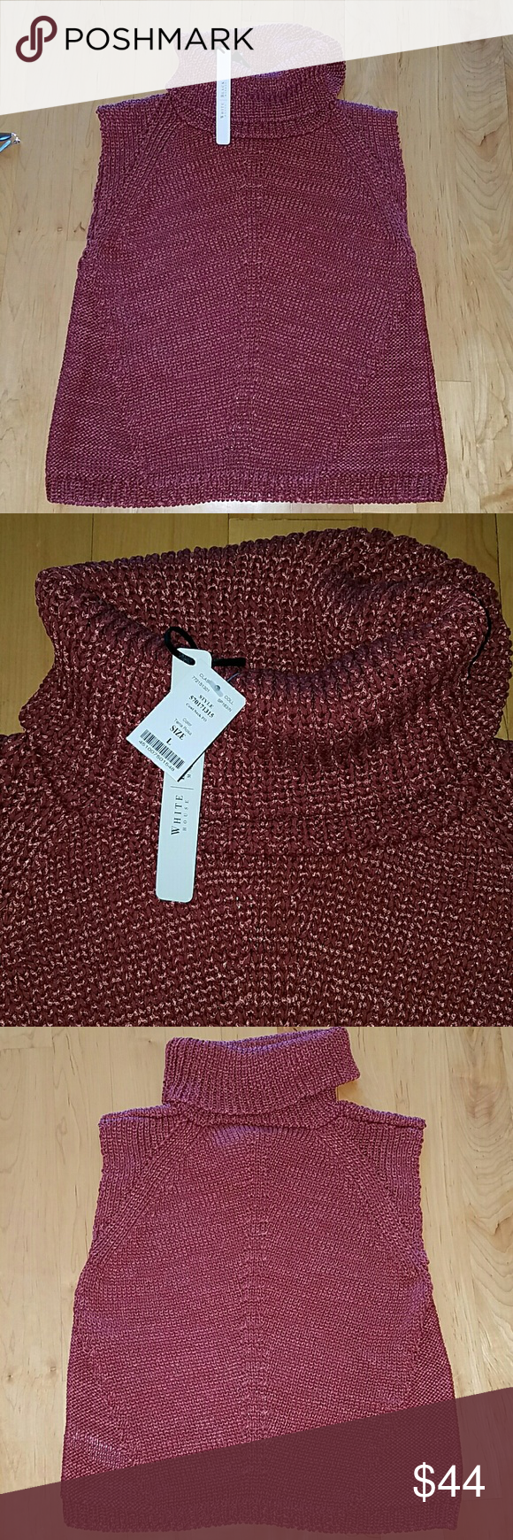 White House Black Market knit turtle neck sweater White House Black Market knit turtle neck sweater, Rust color. Size large.  NWT White House Black Market Tops