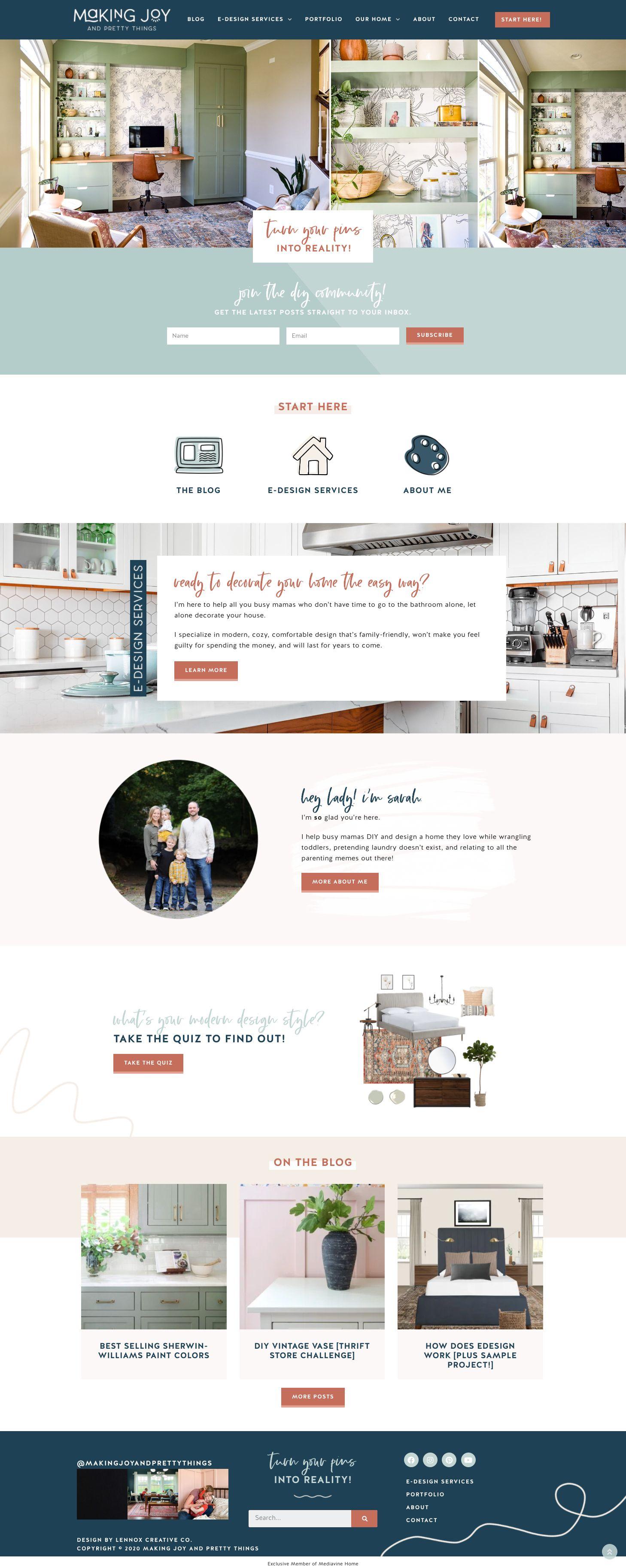 Interior Decorator Website Design In 2020 Website Design Web Design Interior Decorating