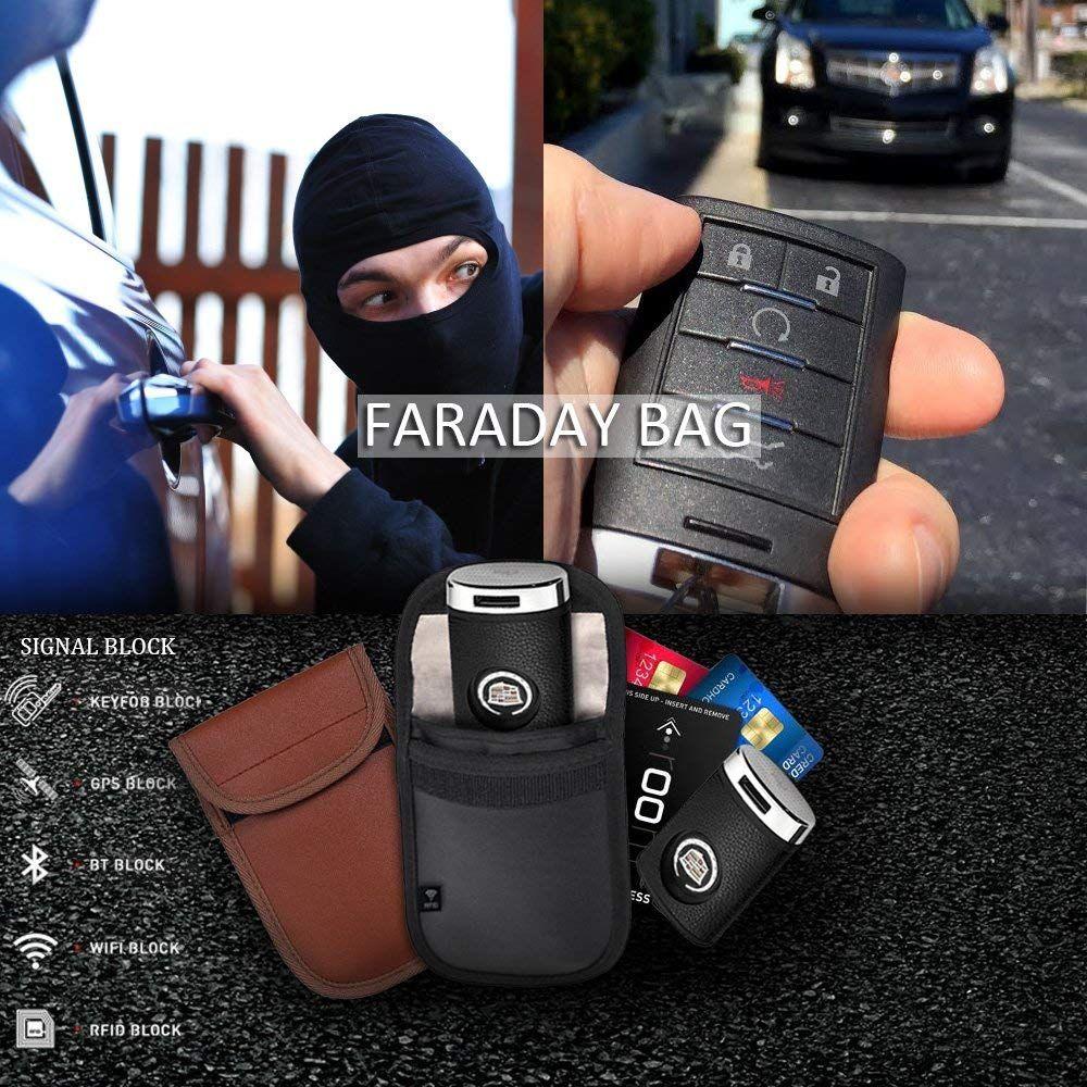 Car key fob signal blocker pouch rfid blocking anti