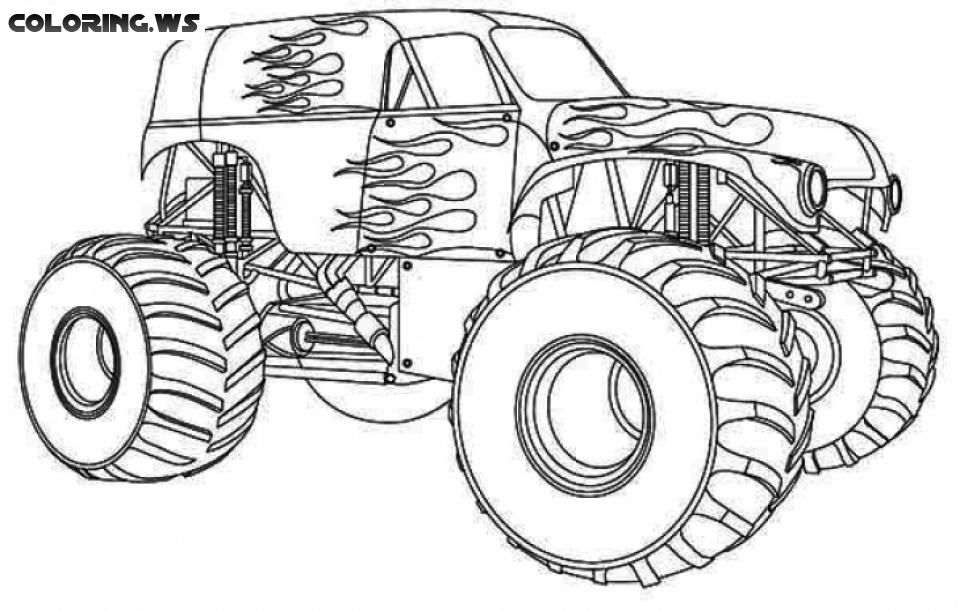 Monster Truck Coloring Pages For Teenagers Truck Coloring Pages