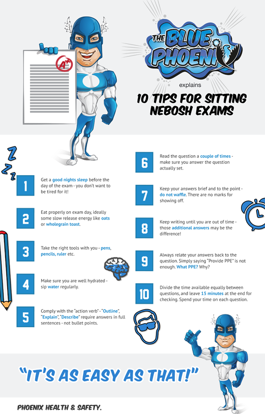 10 Tips for Sitting NEBOSH Exams designed for Phoenix HSC