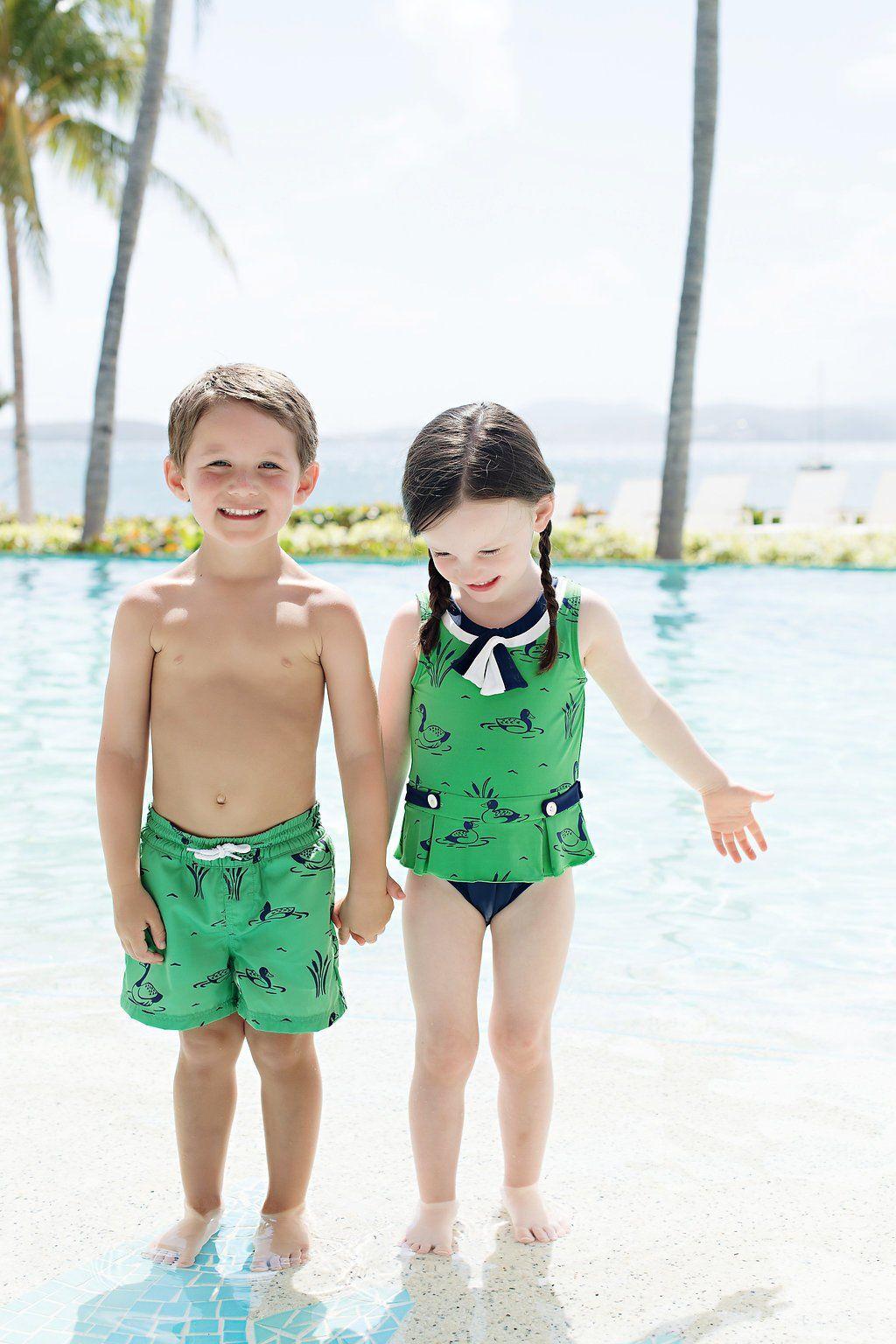 3bca2eafd6d98 Tortola Swim Trunks - Quack, Quack, Honk | Sail Away With Me | Swim ...
