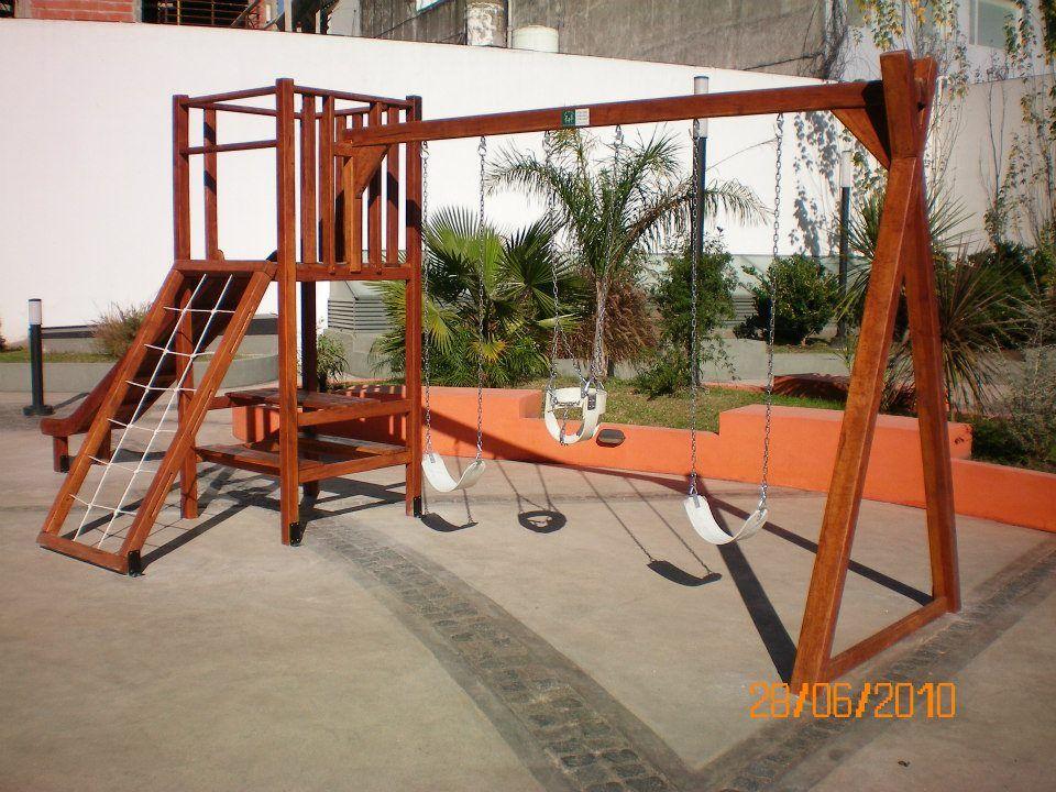 Juegos de madera para jardin indiana s juegos para for Jardines de casas particulares