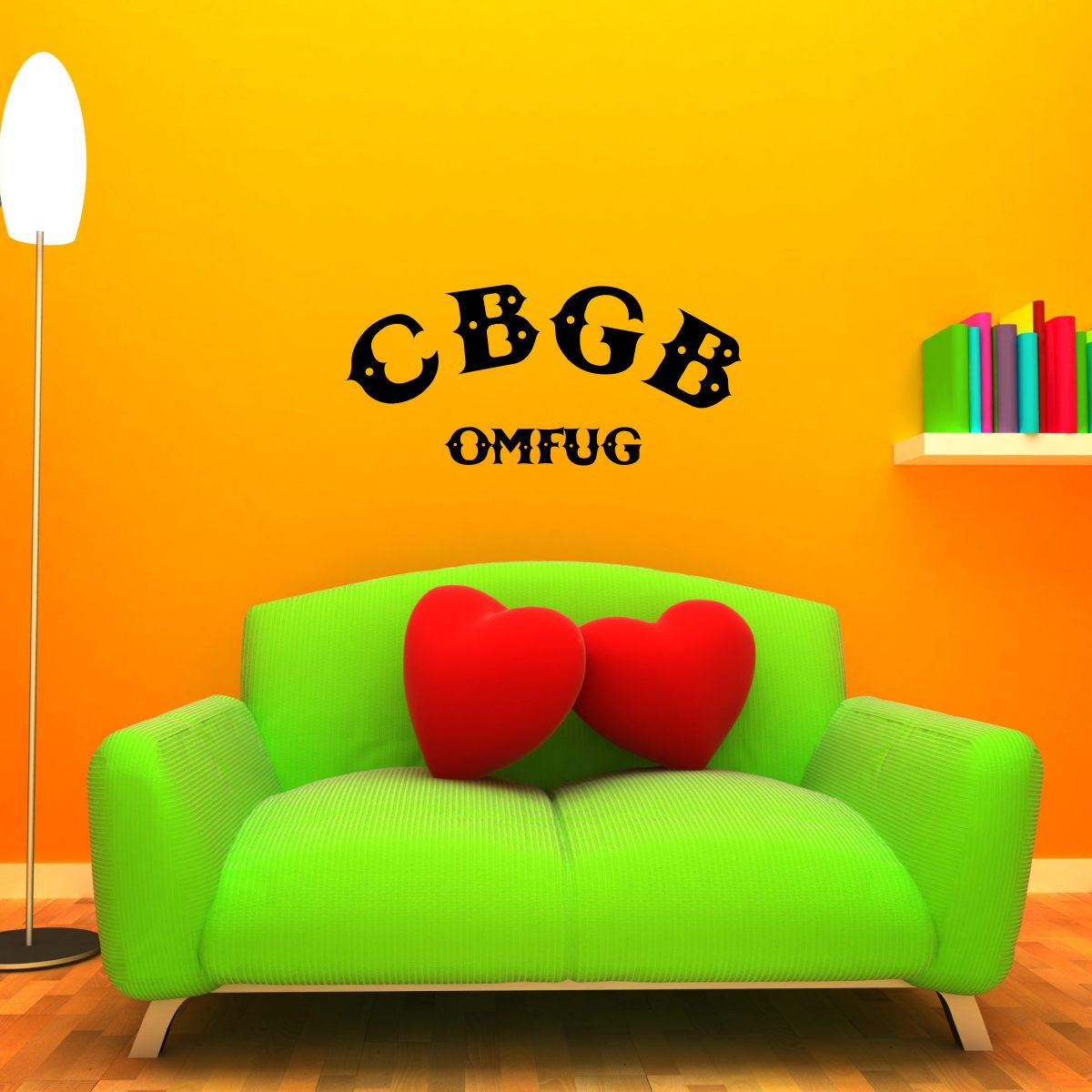 CBGB Wall Decal - LARGE Mural Rock Band Sticker NYC | Wall decals
