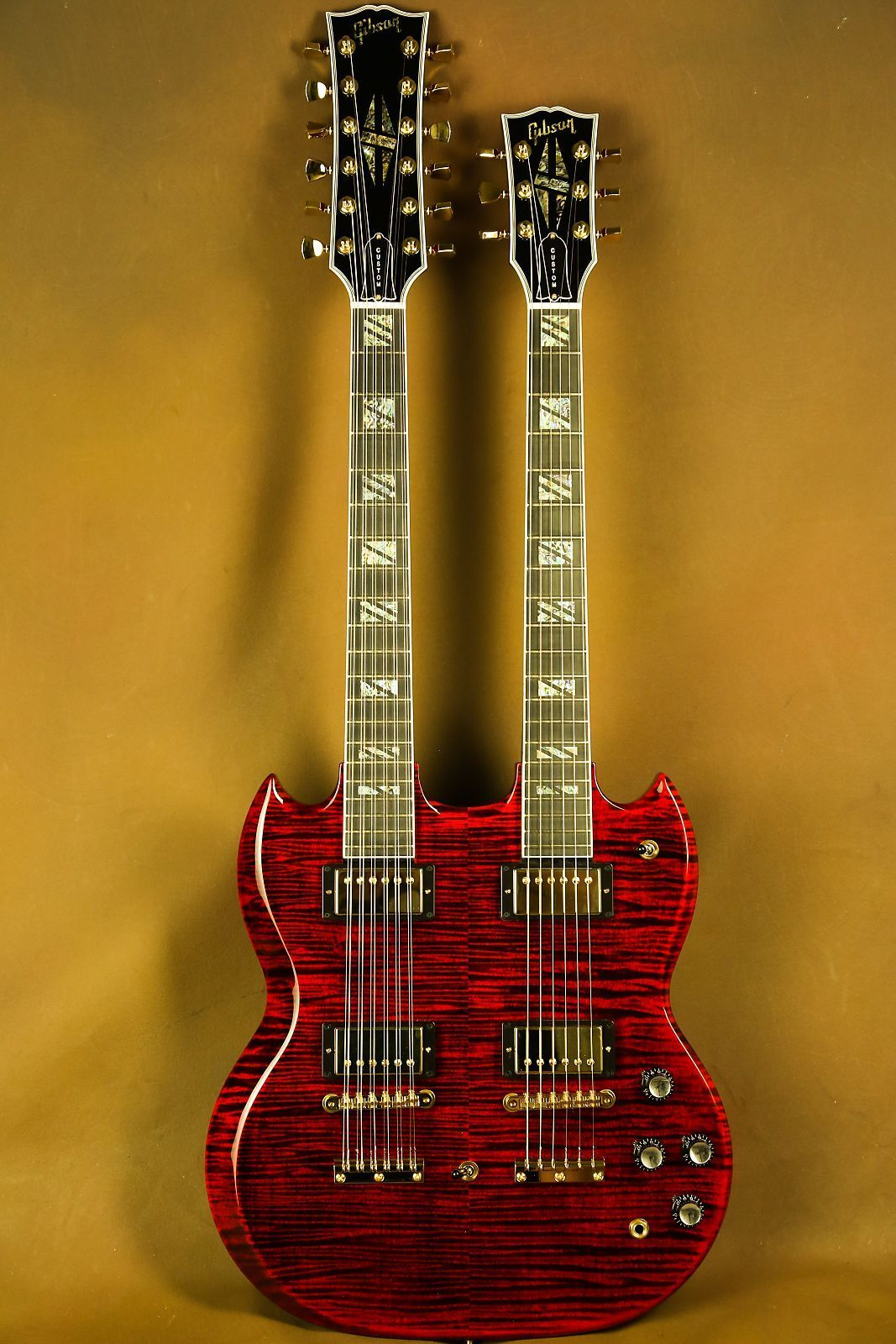 Gibson Eds 1275 Supreme Ultra Flamed Maple Double Neck Sg Electric Gretsch Synchromatic Wiring Diagram This Is A One Of Kind Guitar Built To Showcase What The Custom Shop Truly Capable Ofthe Standard Electronics Template