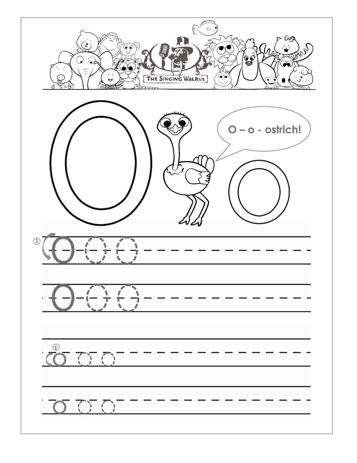 Letter O Worksheets For Preschool Kids Worksheets Printable