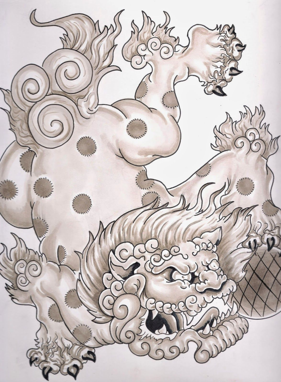 28 chinese foo dog tattoo designs image gallery shi for Eight ball tattoo removal