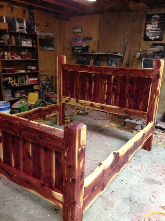 Bed Frame, Cedar Bed, Post Bed, Custom Made Frame, Cedar Frame ...