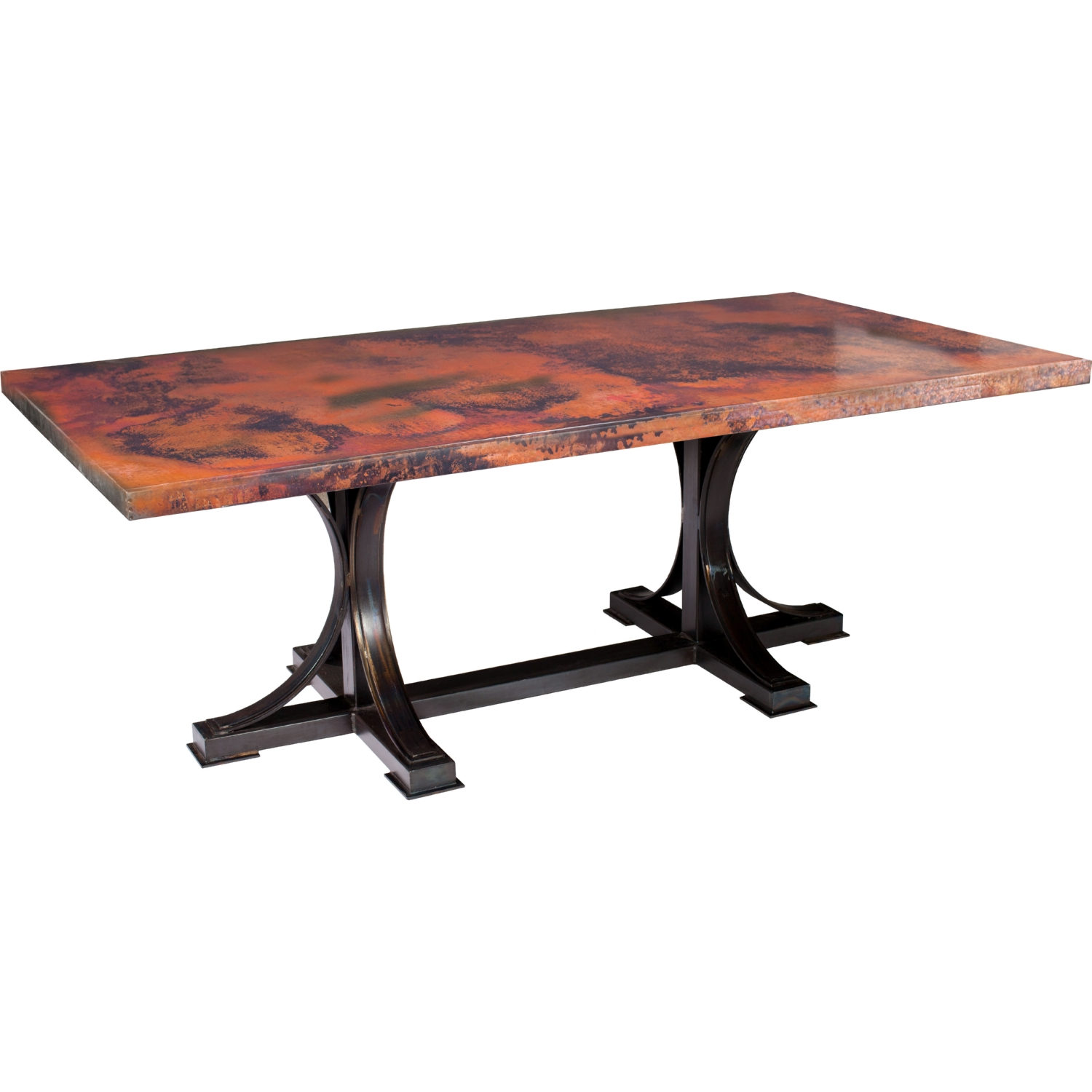 Prima Design Source Winston Dining Table in Hand Forged Iron w/ 72 ...