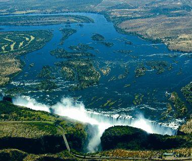 Victoria Falls, Zimbabwe/Zambia helicopter ride