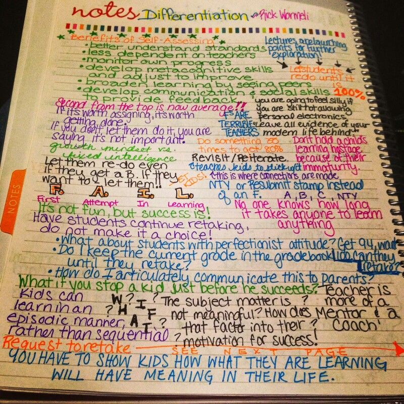 Rick Wormeli Doodle Notes 1 Personalized Learning Differentiated