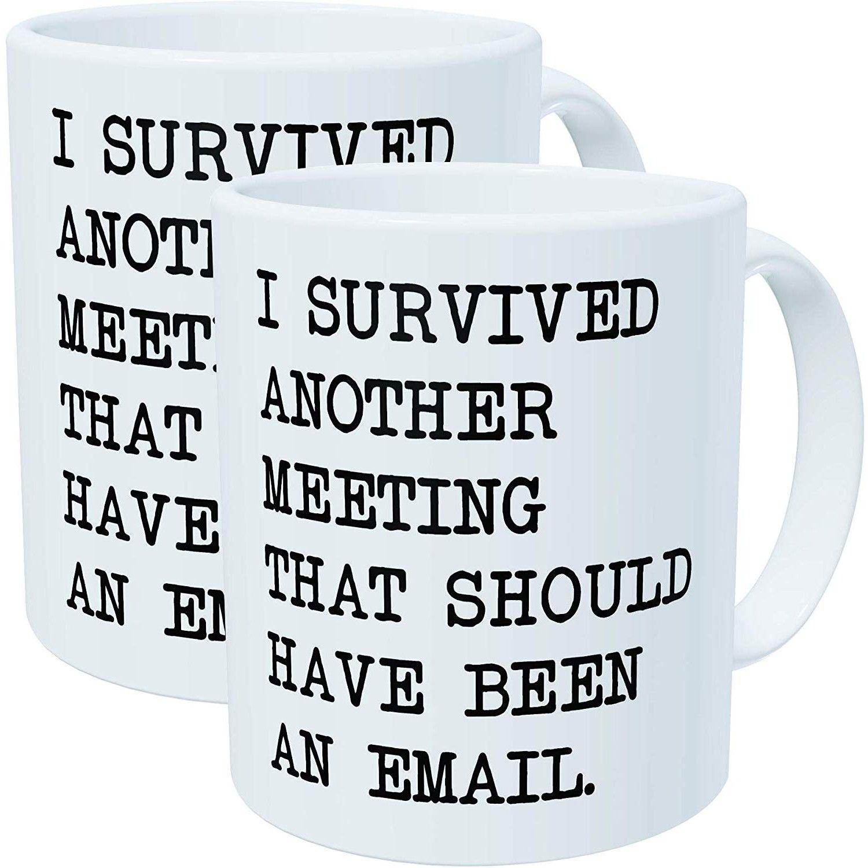 Funny Office Meeting Mug With Images Mugs Funny Coffee Mugs