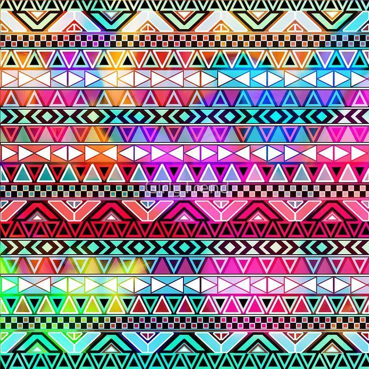 Pink Aztec Print Background