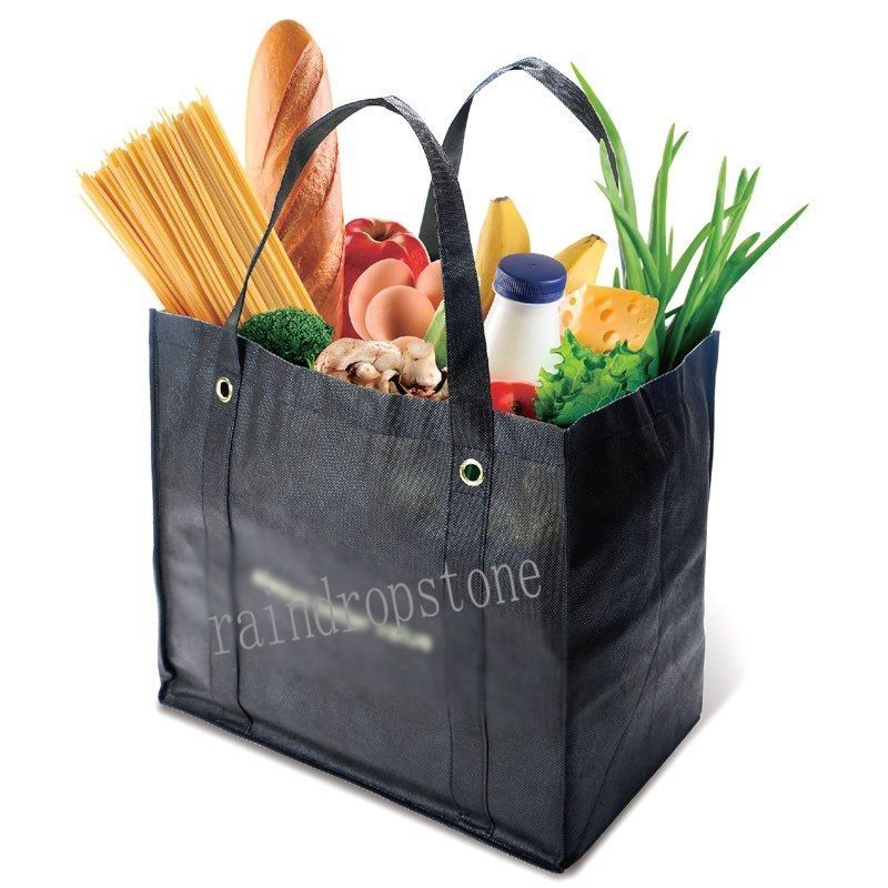 2Pcs Portable Reusable Large Shopping Bag Tote Traveling Shopper Laundry Handbag