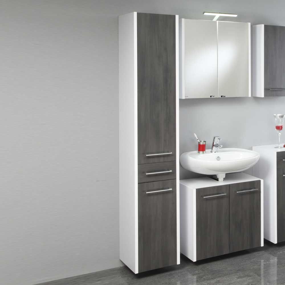 Badezimmer Hochschrank Modern With Images Vanity Bathroom
