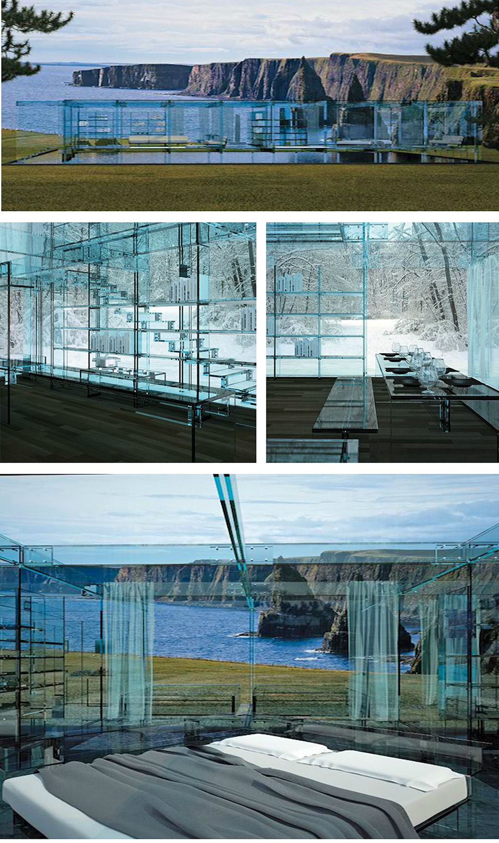 Home Constructed Entirely Out Of Glass by Milan based design firm ...