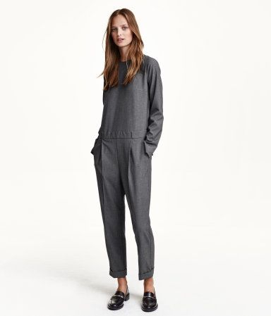 83f9d73c1fc Jumpsuit in woven fabric with a concealed zip at back. Seam at waist ...