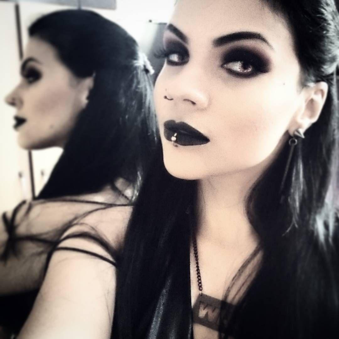 Danielle corpse gothic beauties pinterest makeup black lips